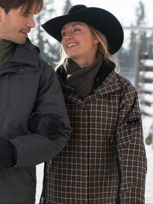 Amy Fleming TV Series Heartland Amber Marshall Checkered Jacket