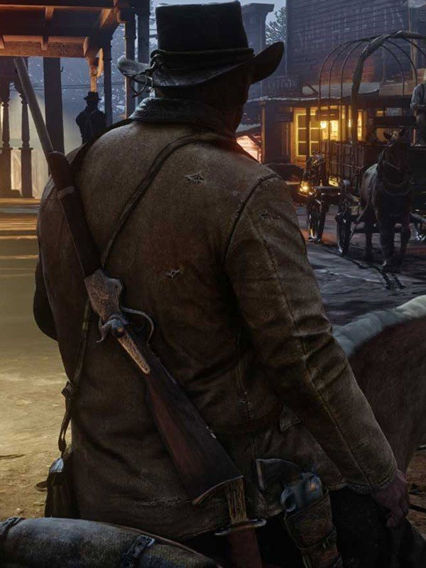 Video Game Red Dead Redemption 2 Arthur Morgan Brown Leather Jacket