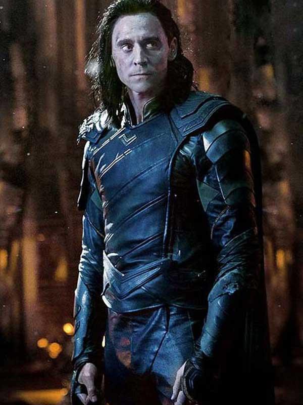 Loki Avengers Infinity War Tom Hiddleston Cosplay Black Leather Jacket