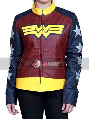Wonder Women Batman V Superman Dawn of Justice Leather Jacket