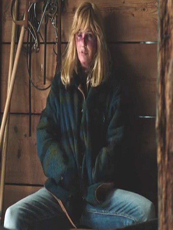 Kelly Reilly TV Series Yellowstone Season 2 Beth Dutton Plaid Jacket