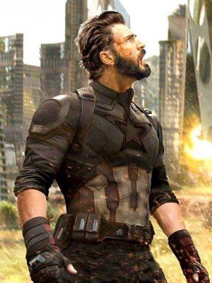 Steve Rogers Avengers Infinity War Captain America Jacket