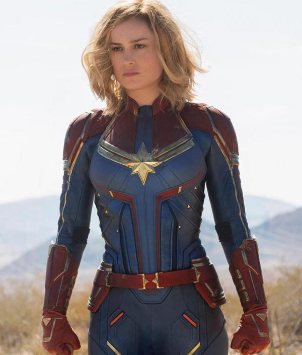 Brie Larson Captain Marvel Carol Danvers Cosplay Leather Jacket