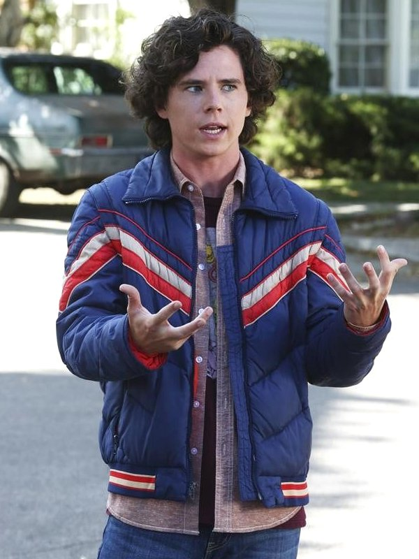 Charlie McDermott TV Series The Middle Axl Heck Blue Puffer Jacket