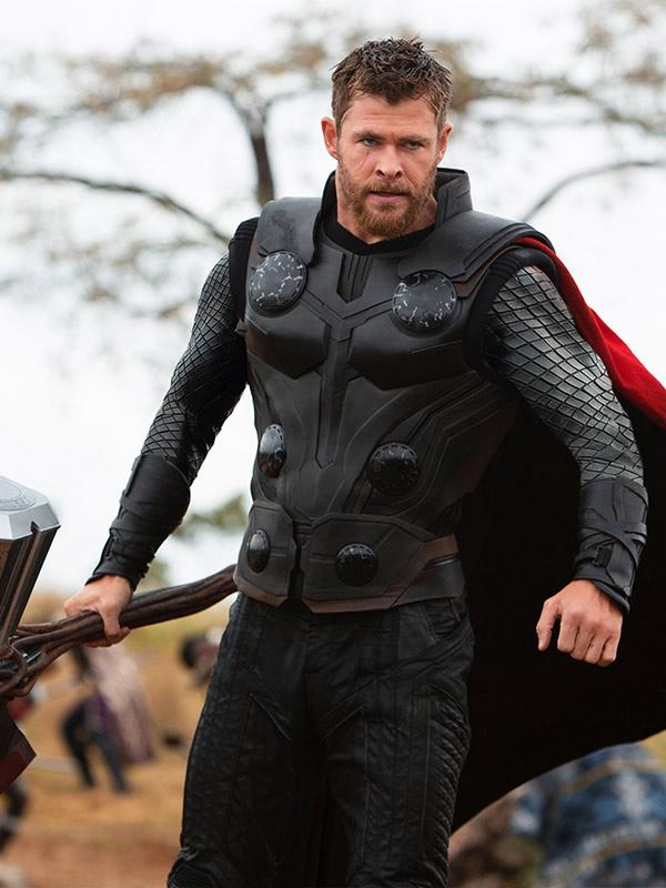Chris Hemsworth Avengers Infinity War Thor Leather Vest