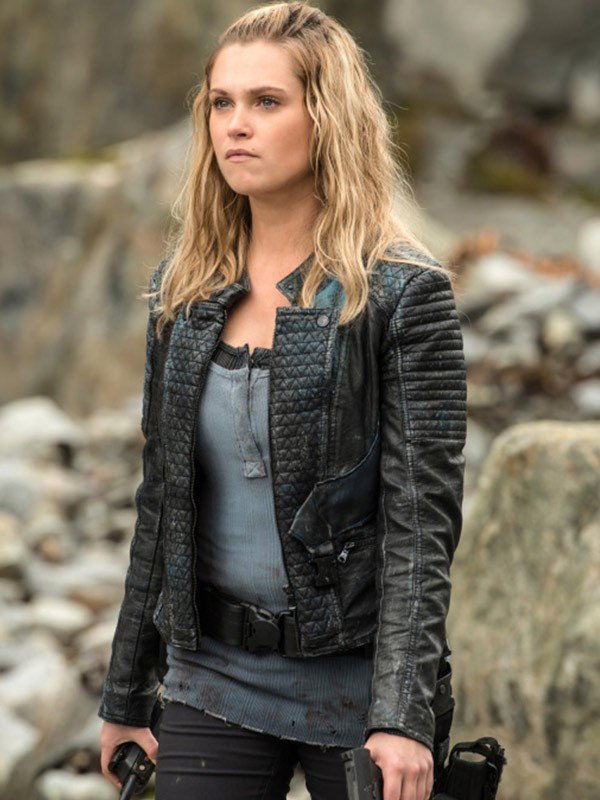 Eliza Taylor TV Series The 100 Clarke Griffin Black Quilted Leather Jacket