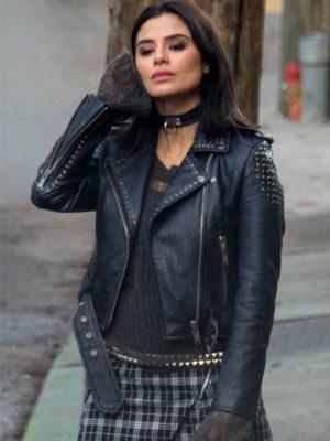 Doom Patrol Diane Guerrero Black Biker Studded Jacket