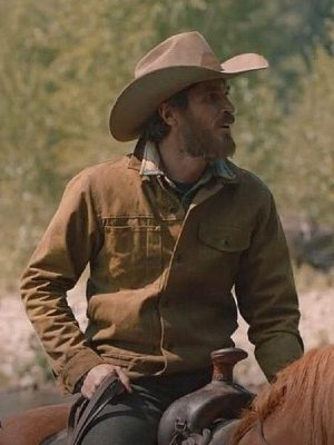 Lee Dutton TV Series Yellowstone Dave Annable Brown Cotton Jacket