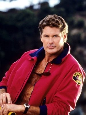 The Mentor Baywatch David Hasselhoff Lifeguard Bomber Jacket
