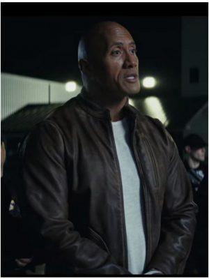 Rampage 2018 Dwayne Johnson Brown Leather Jacket