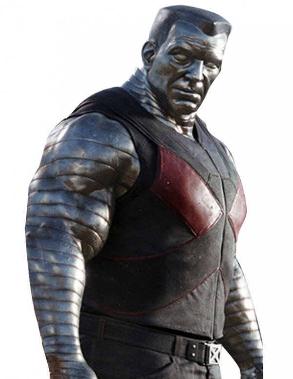 Deadpool Colossus Black Leather Vest