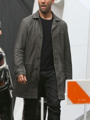 Deckard Shaw The Fate of the Furious Jason Statham Leather Trench Coat