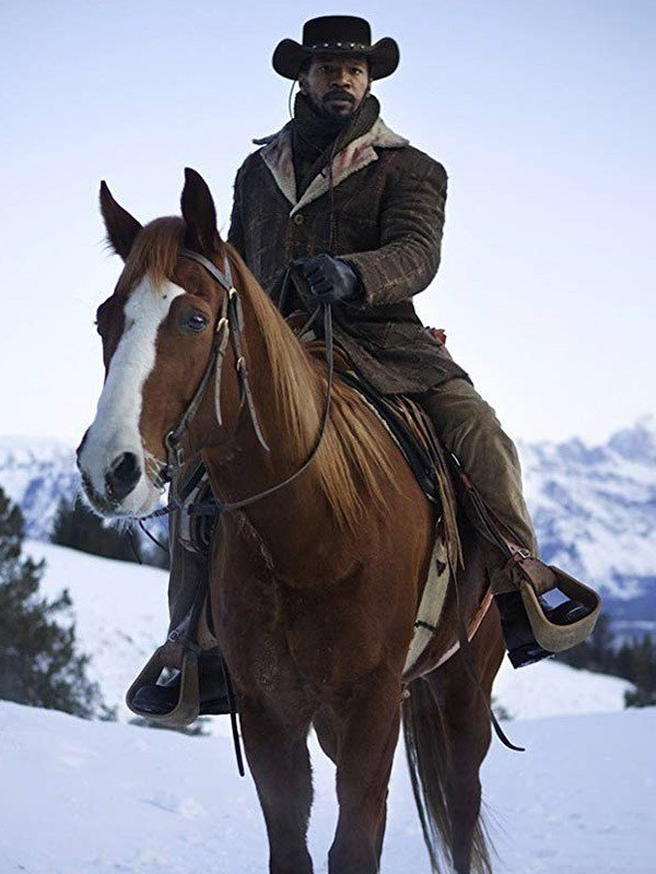 Jamie Foxx Django Unchained 2012 Django Brown Coat
