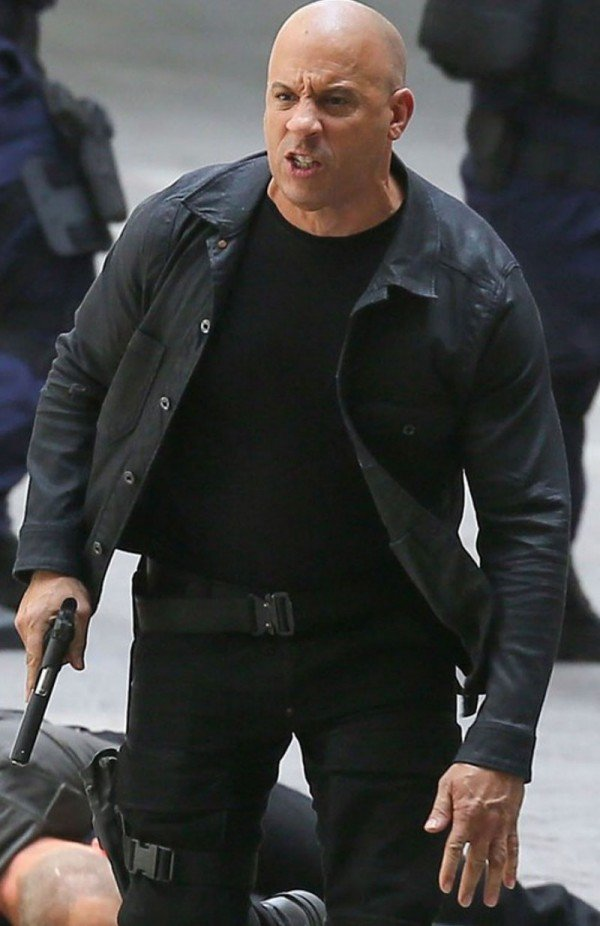 Dominic Toretto Fast and Furious 8 Vin Diesel Black Cotton Jacket