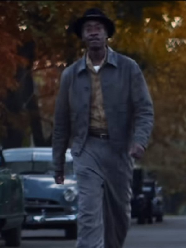 Don Cheadle No Sudden Move 2021 Curt Goynes Brown Leather Jacket