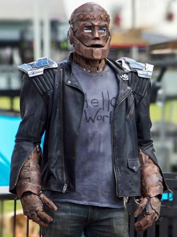 Doom Patrol Season 01 Robotman Black Leather Jacket