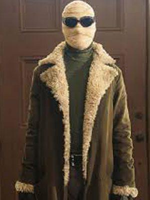 Doom Patrol Season 01 Negative Man Brown Shearling Trench Coat