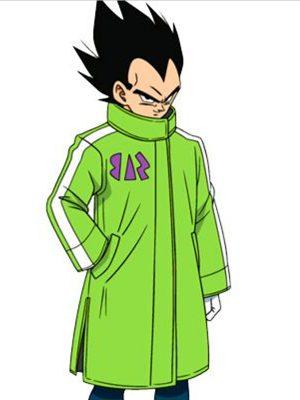 Broly Vegeta Dragon Ball Super SAB Green Leather Coat