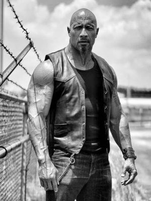 Luke Hobbs The Fate of the Furious Dwayne Johnson Leather Vest