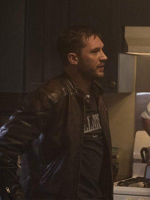Tom Hardy Venom Eddie Brock Brown Leather Jacket