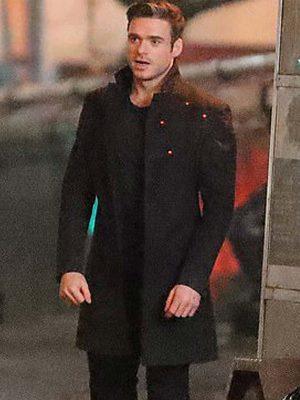 Eternals 2021 Ikaris Mid-length Black Wool Coat