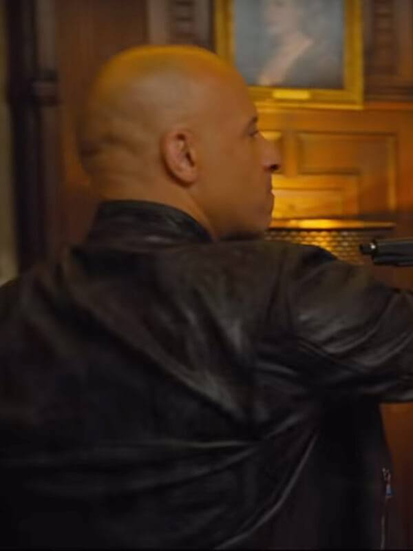 Dominic Toretto Fast And Furious 9 Vin Diesel Black Slim-Fit Leather Jacket