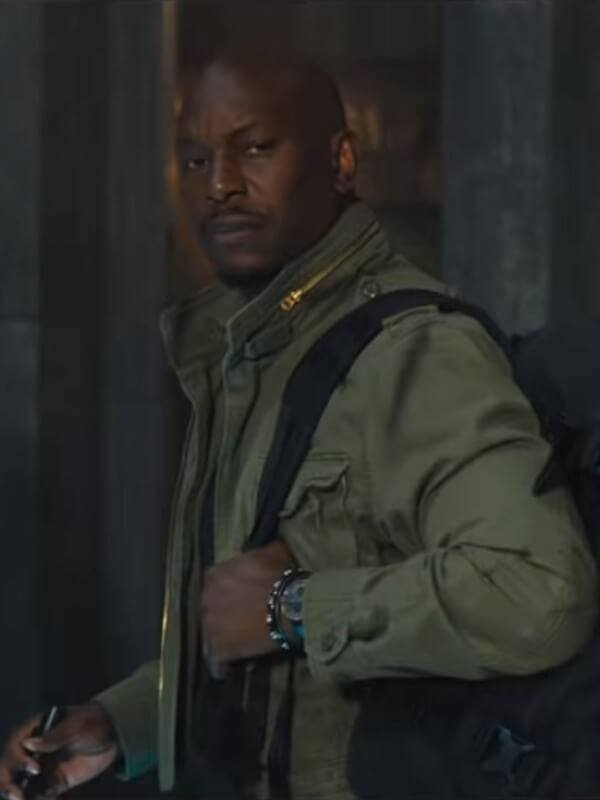 Tyrese Gibson Fast And Furious 9 Roman Pearce Green Cotton Jacket