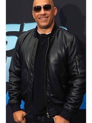 Fast and Furious Spy Racers Premiere Vin Diesel Black Leather Jacket