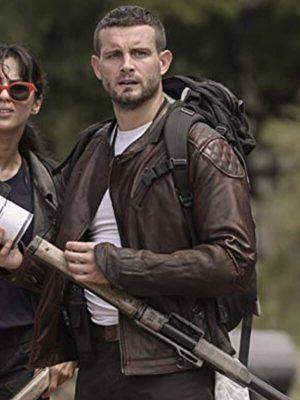Nico Tortorella The Walking Dead Felix Carlucci Brown Leather Jacket