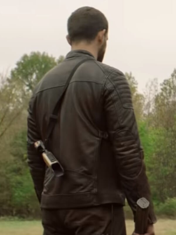 Felix Carlucci The Walking Dead Nico Tortorella Quilted Leather Jacket