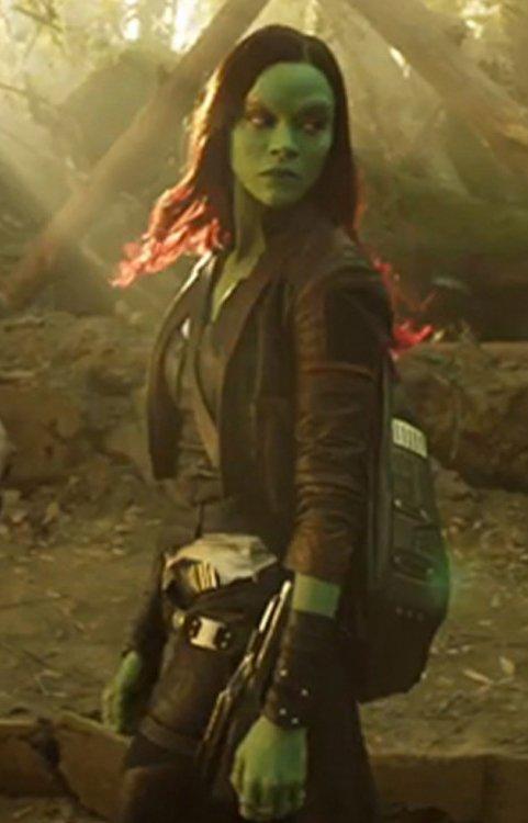 Zoe Saldana Guardians of the Galaxy Vol. 2 Leather Coat