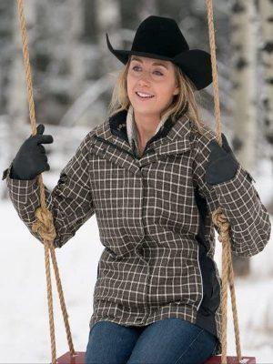 Amber Marshall Heartland Amy Fleming Checkered Plaid Jacket
