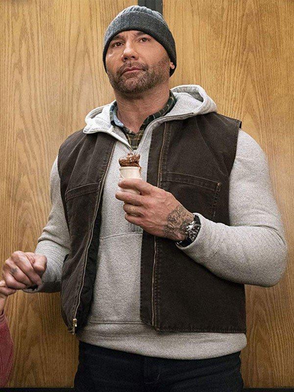 Dave Bautista My Spy 2020 JJ Brown Cotton Vest