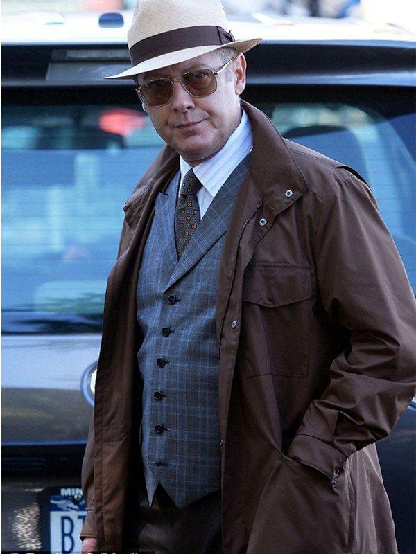 James Spader TV Series The Blacklist Raymond Reddington Brown Polyester Jacket