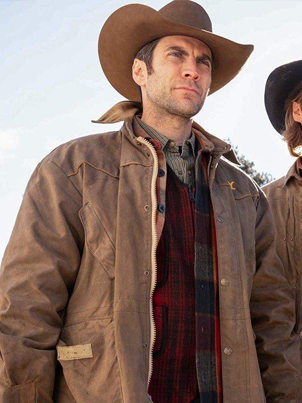 Wes Bentley TV Series Yellowstone Jamie Dutton Cotton Jacket