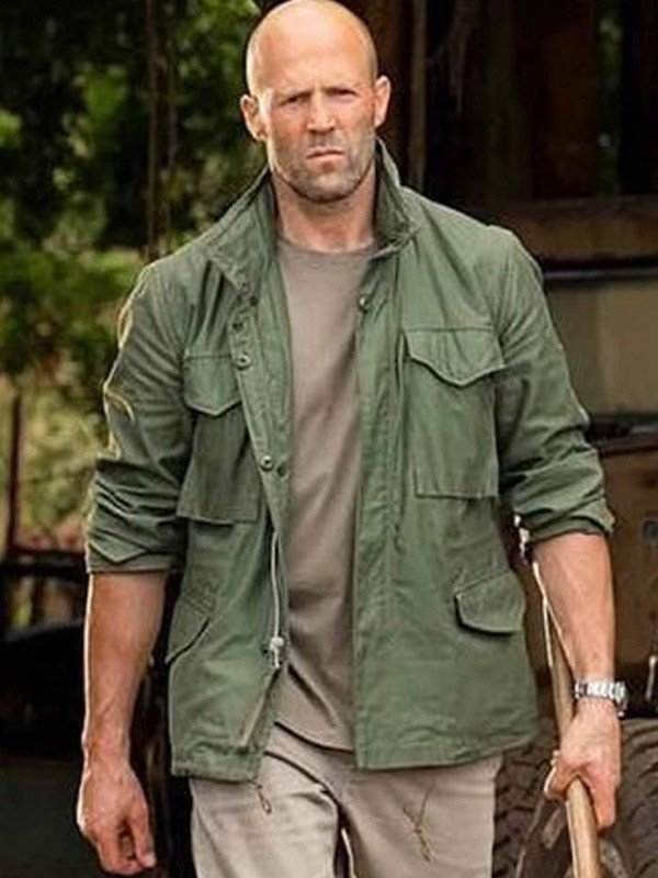 Jason Statham Fast and Furious Hobbs and Shaw Green Cotton Jacket