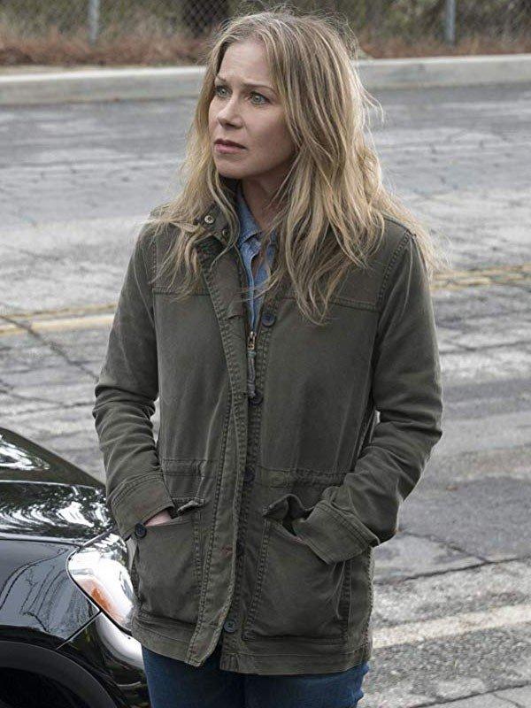 Christina Applegate TV Series Dead to Me Green Cotton Jacket