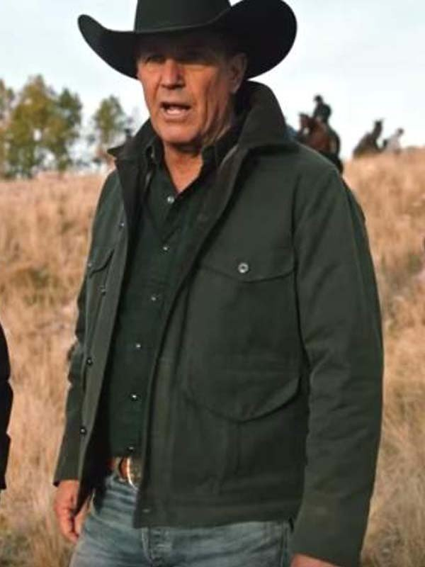 Kevin Costner TV Series Yellowstone Season 2 John Dutton Green Jacket
