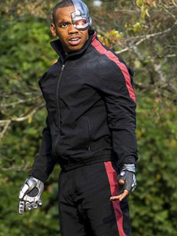Doom Patrol Season 01 Cyborg Black Cotton Bomber Jacket