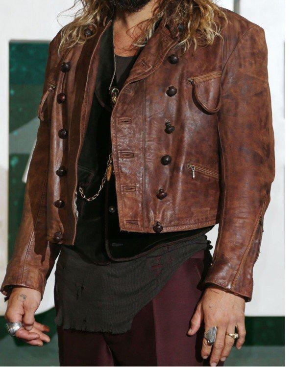 Aquaman justice League Jason Momoa Leather Jacket