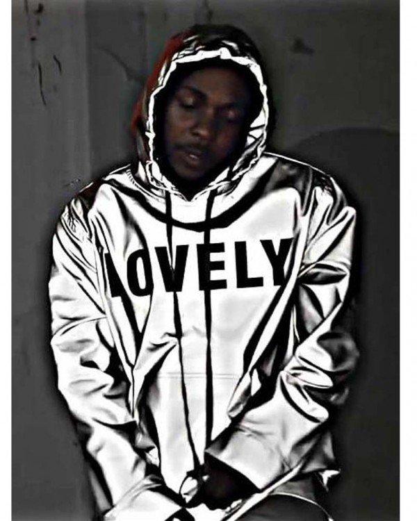 American Rapper Kendrick Lamar Lovely Polyester Hooded Jacket