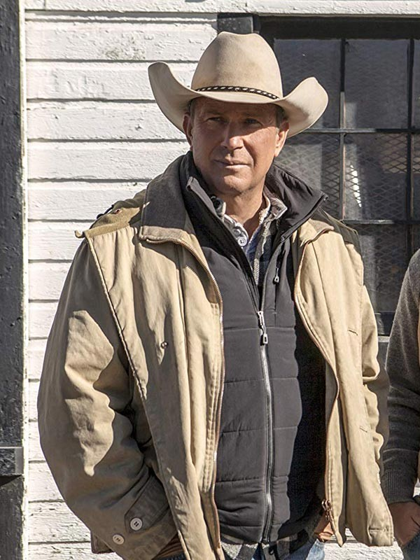 Kevin Costner Yellowstone John Dutton Cotton Jacket