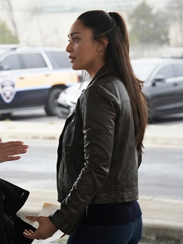 Micki Ramirez Tv Series Walker Lindsey Morgan Leather Jacket