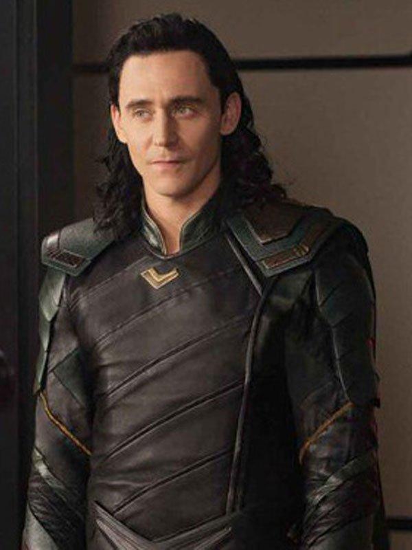 Tom Hiddleston Avengers Infinity War Loki Leather Jacket