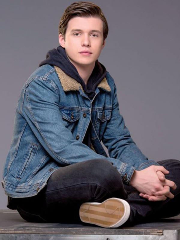 Simon Spier Love Simon Nick Robinson Blue Shearling Denim Jacket