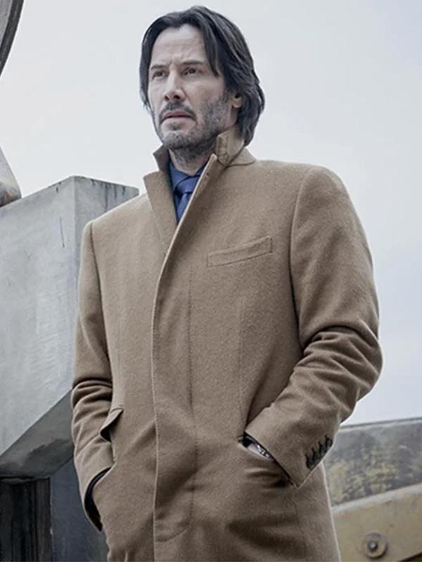 Keanu Reeves Siberia 2018 Brown Wool Trench Coat