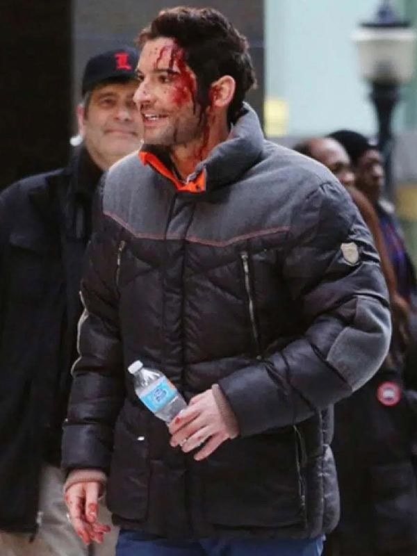 Lucifer Season 06 Tom Ellis Black Puffer Jacket