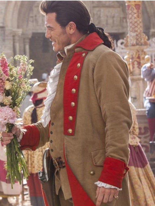 Gaston Beauty and the Beast 2017 Luke Evans Brown Trench Coat