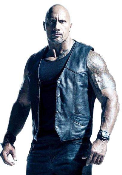 Dwayne Johnson The Fate of the Furious Luke Hobbs Black Leather Vest