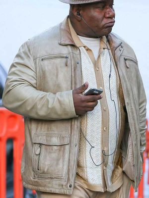 Mission Impossible 6 Fallout Luther Stickell Brown Leather Jacket